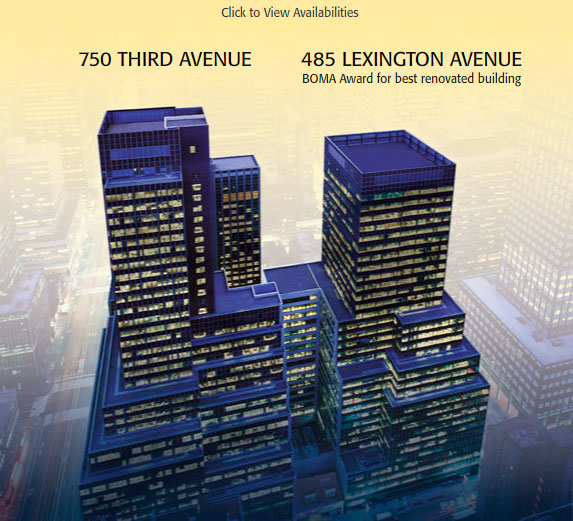 Click to View Availabilities : 750 Third Avenue : 485 Lexington Avenue BOMA Award for best renovated building